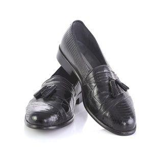 Stacy Adams Genuine Snake Skin Tassel Loafers